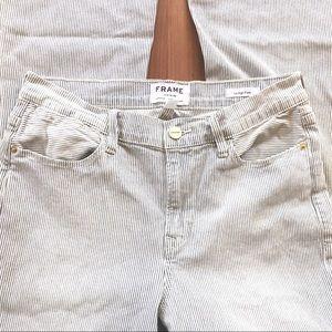Frame Denim | Le High Flare pin striped jeans